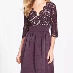 Eliza J plum lace dress - size 4